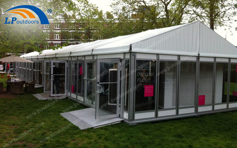 easy asemble and dismantle 10x50m gallery marquee tent