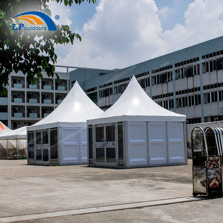 5mX5m ABS Glass Solid Wall Pagoda Tent