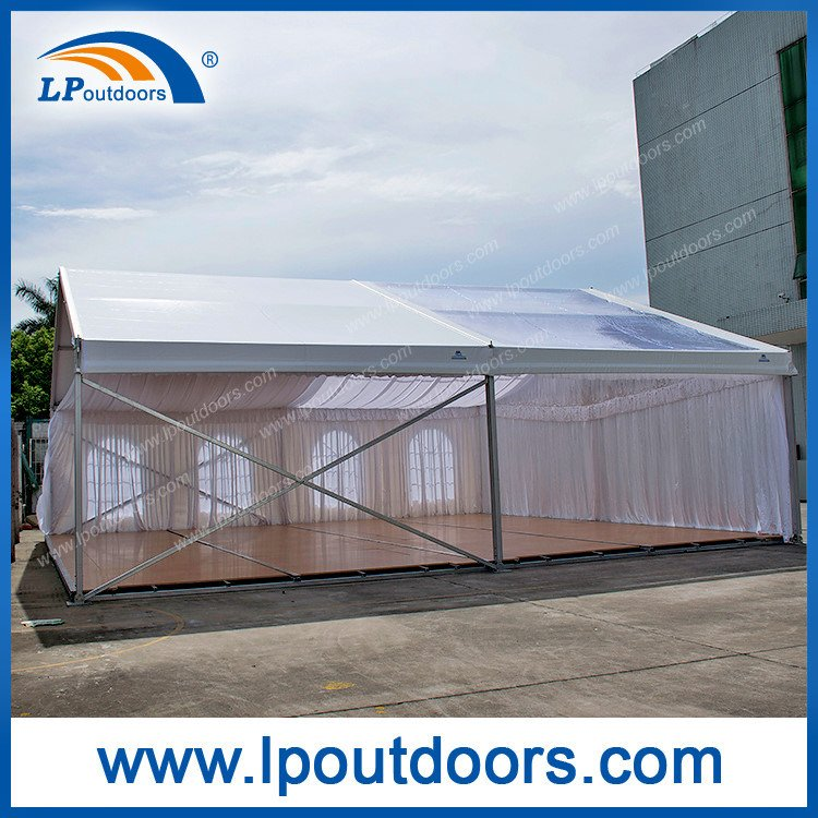 Mobile Transparent Car Show Tent with Wooden Floor