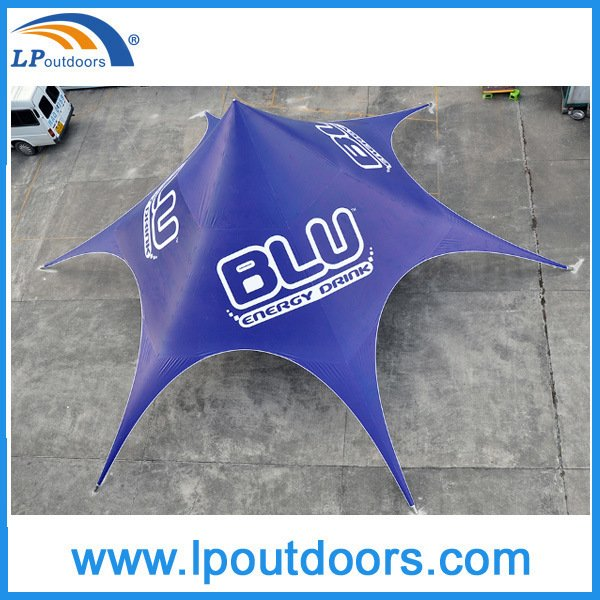 Dia 16m Coffee Shop Single Peak Spider Star Tent for Events
