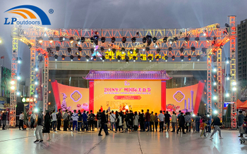 LPoutdoors Outdoor Exhibition Tent And Aluminum Display Truss Made A Successful Food Festival Event