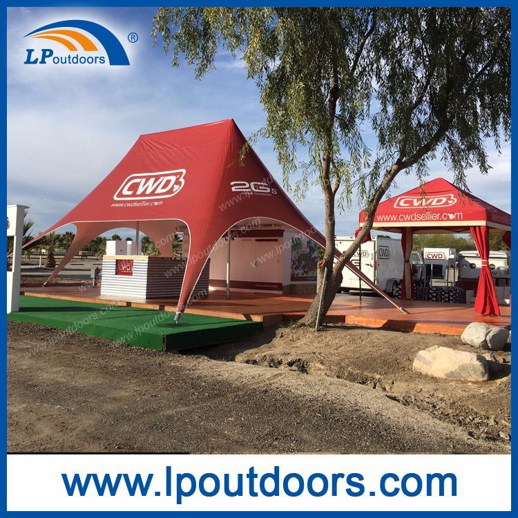 10X14m Top Double Peak Star Tent For Advertising