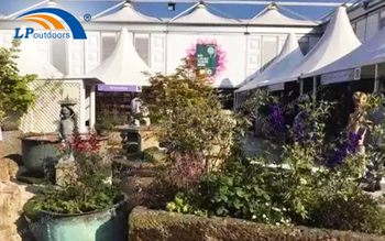 Giant Aluminum Structure Outdoor Flower Exhibition Event Tent Provides an Excellent Visual Feast